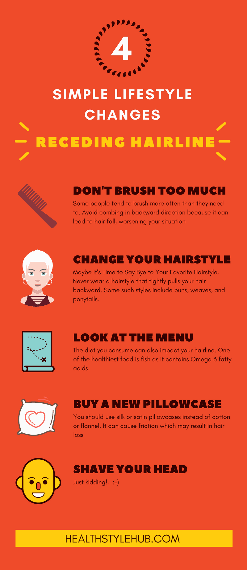simple lifestyle changes receding hairline