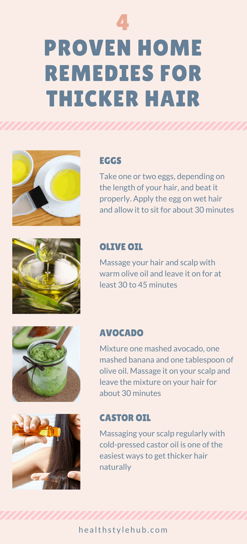 4 Proven Home Remedies for Thicker Hair