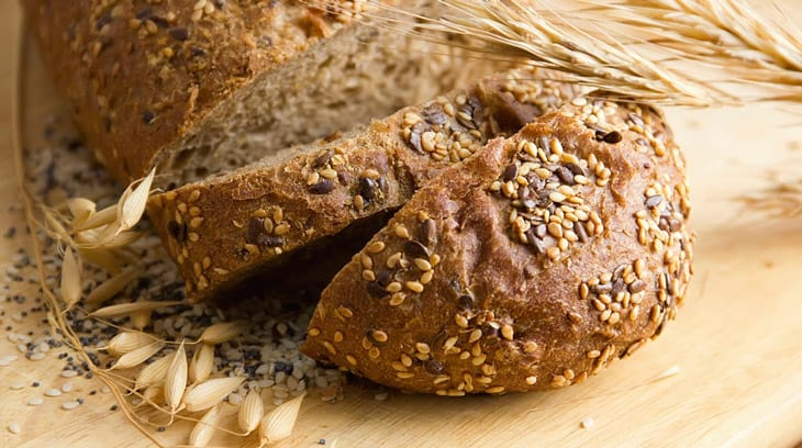 bread with seeds of sesame